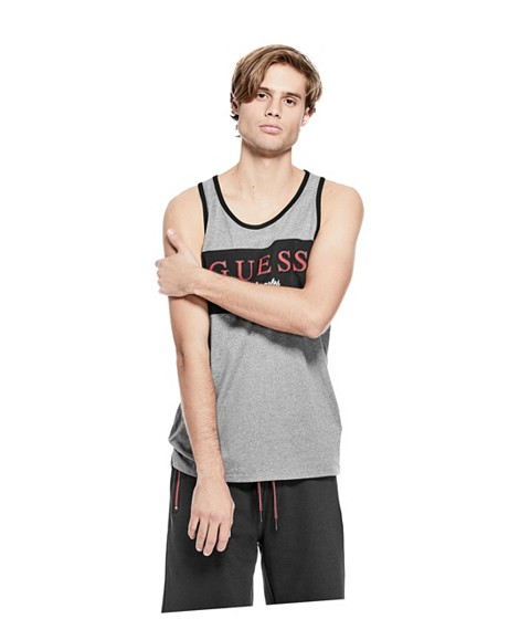 Imbracaminte Barbati GUESS Macintyre Logo Tank 038 griffith heather am 0
