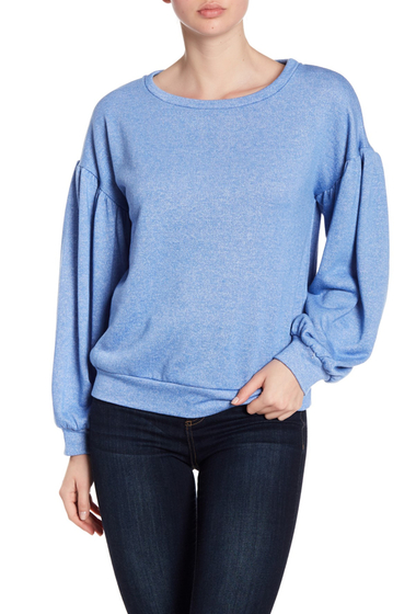 Imbracaminte Femei Ro De Bishop Sleeve Crew Neck Sweater DENIM