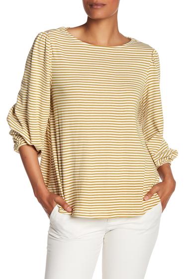Imbracaminte Femei Philosophy Apparel Striped 34 Length Sleeve Blouse IVORYMUST