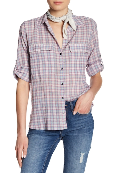 Imbracaminte Femei William Rast Dalila Plaid Shirt SANGRIA WILDER PLAID