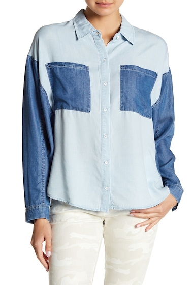 Imbracaminte Femei William Rast Dania Dolman Chambray Shirt OXFORD COMMA