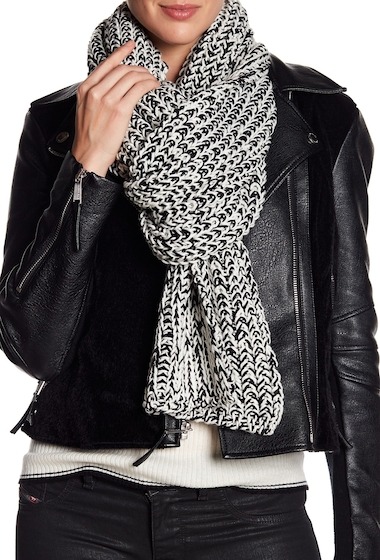 Accesorii Femei Rag Bone Sandra Wrap Knit Wool Blend Scarf WHITE BLA