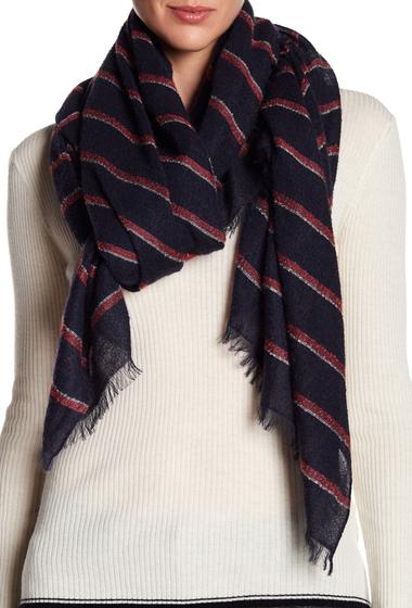 Accesorii Femei Rag Bone Stripe Knit Wrap Scarf NAVY