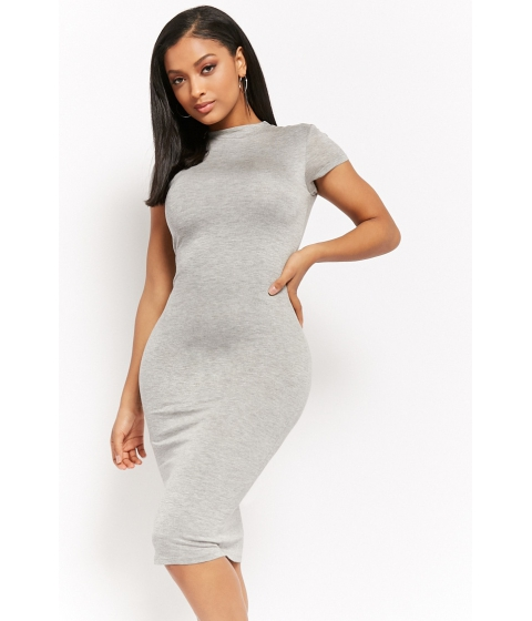 Imbracaminte Femei Forever21 High-Neck Heathered Tee Dress HEATHER GREY