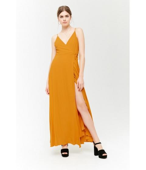 Imbracaminte Femei Forever21 Surplice Maxi Wrap Dress MUSTARD