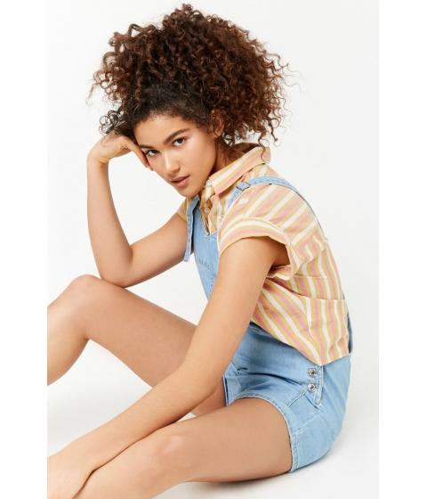 Imbracaminte Femei Forever21 Denim Overall Shorts DENIM