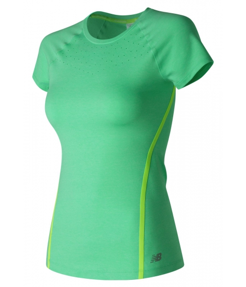 Incaltaminte Femei New Balance Trinamic Short Sleeve Top Green
