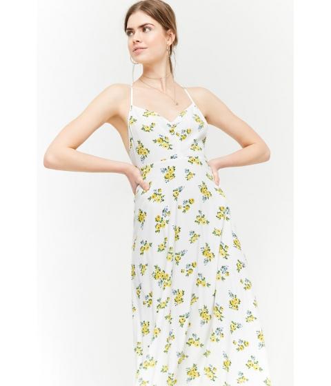 Imbracaminte Femei Forever21 Floral Print Maxi Dress IVORYYELLOW
