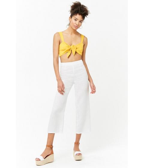 Imbracaminte Femei Forever21 High-Waisted Linen Culottes CREAM