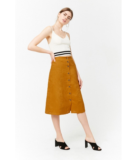 Imbracaminte Femei Forever21 Button-Front A-Line Skirt GINGER