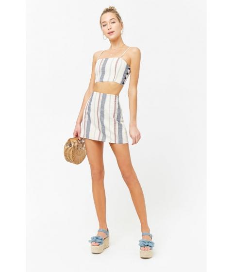 Imbracaminte Femei Forever21 Striped Mini Skirt CREAMRED