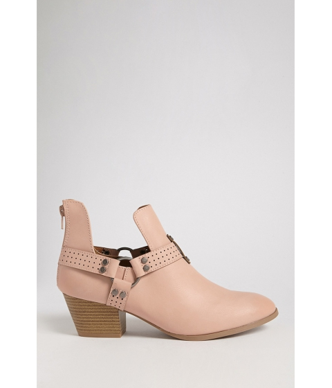 Incaltaminte Femei Forever21 Qupid Faux Leather Ankle Bootie BLUSH