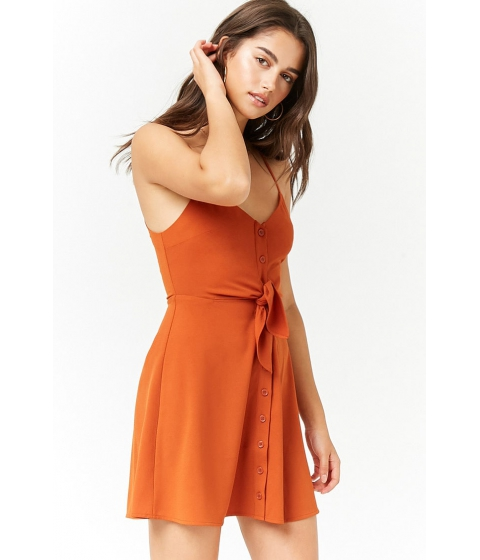 Imbracaminte Femei Forever21 Cutout Tie-Front Mini Dress RUST