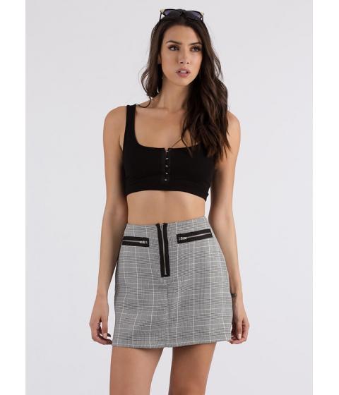 Imbracaminte Femei CheapChic Hooked On It Rib Knit Cropped Tank Black