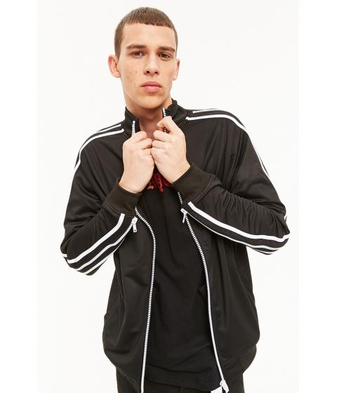 Imbracaminte Barbati Forever21 Rebel Minds Zip Sleeve Jacket BLACK