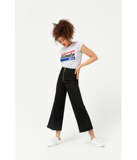 Imbracaminte Femei Forever21 Wide-Leg Jeans BLACK