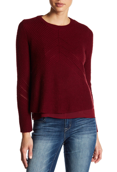 Imbracaminte Femei Lucky Brand Nico Sweater BURGUNDY