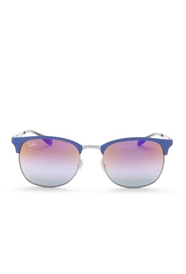 Ochelari Femei Ray-Ban Mens Clubmaster Metal Frame Sunglasses GUNMETALMATTE BLUE
