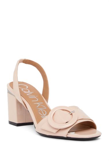 Incaltaminte Femei Calvin Klein Claudia Patent Leather Slingback Sandal SHEER SATIN