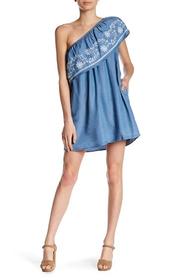 Imbracaminte Femei Rebecca Minkoff Rita Embroidered Chambray Dress LIGHT BLUE