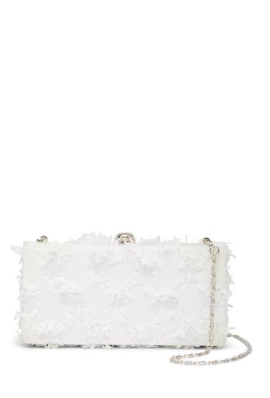 Genti Femei Deux Lux Bubbly Box Clutch WHITE