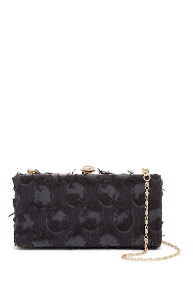 Genti Femei Deux Lux Bubbly Box Clutch BLACK