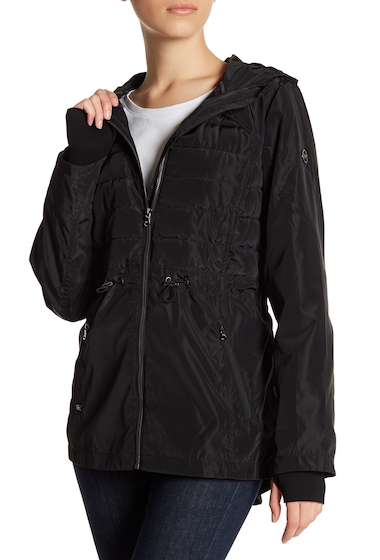 Imbracaminte Femei MICHAEL Michael Kors Quilted Hooded Anorak BLACK
