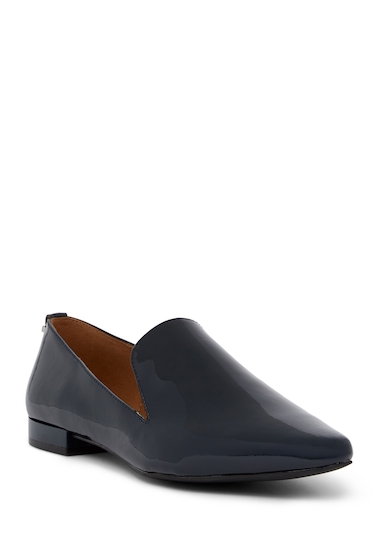 Incaltaminte Femei Calvin Klein Elin Patent Leather Loafer DEEP NAVY