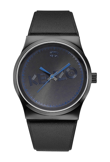 Ceasuri Femei Kenzo Womens Leather Strap Watch 32mm BLACK