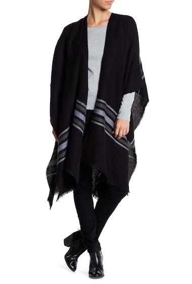 Accesorii Femei Michael Stars Soft Striped Ruana BLACK