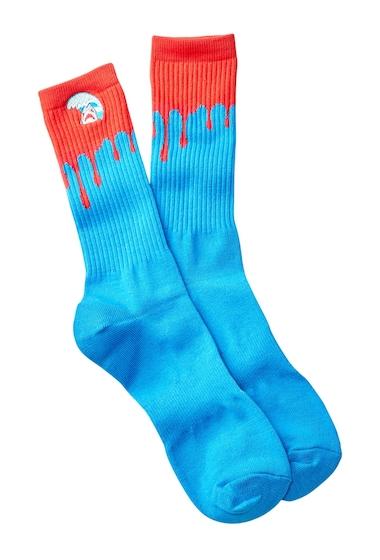 Accesorii Barbati Public Opinion Icon Crew Socks BLUE- RED GREAT WHITE SHARK
