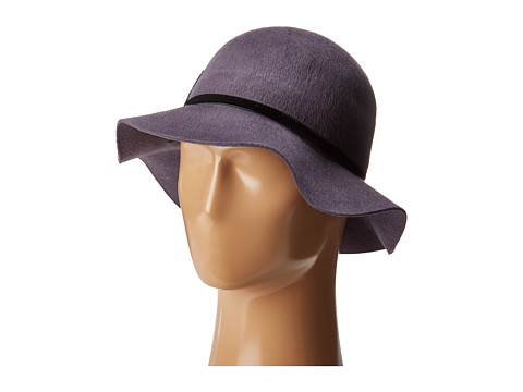 Accesorii Femei San Diego Hat Company WFH8052 Floppy Brushed Wool Hat with Floral Patch Grey
