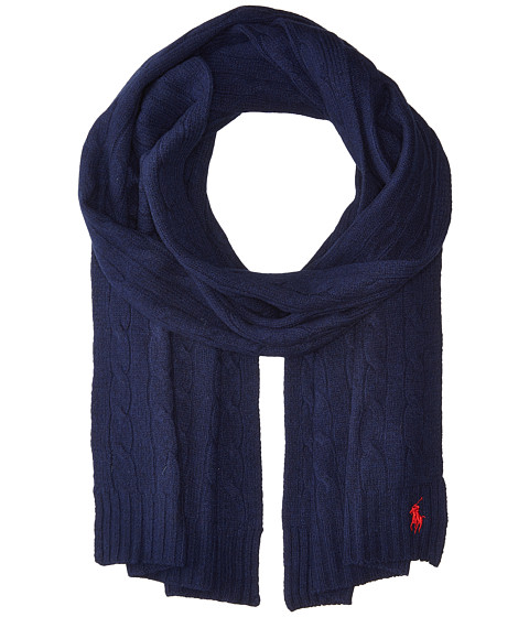 Accesorii Femei Polo Ralph Lauren Cashmere Blend Classic Cable Scarf Bright Navy