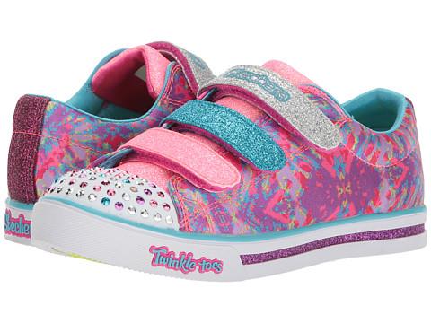 Incaltaminte Fete SKECHERS Twinkle Toes - Sparkle Glitz 10839L Lights (Little KidBig Kid) Hot PinkMulti