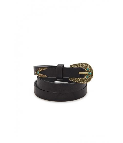 Accesorii Femei Forever21 Faux Leather Skinny Belt BLACK