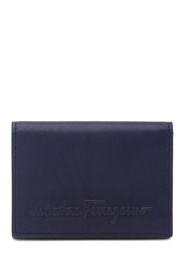 Accesorii Barbati Salvatore Ferragamo Logo Embossed Bifold Leather Wallet BLUE