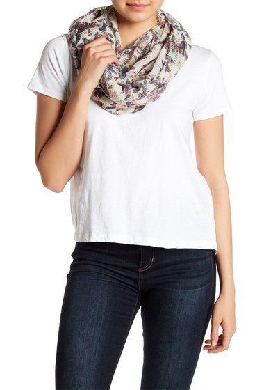 Accesorii Femei Melrose and Market Batik Floral Print Infinity Scarf IVORY COMBO
