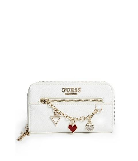 Accesorii Femei GUESS Alaina Charm Zip-Around Wallet white