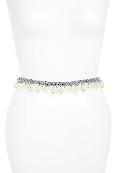 Accesorii Femei FASHION FOCUS ACCESSORIES Imitation Pearl Mini Chain Belt SILVERPEARL