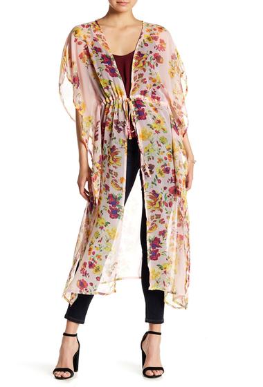 Accesorii Femei Free Press Floral Stripe Duster PINK COMBO