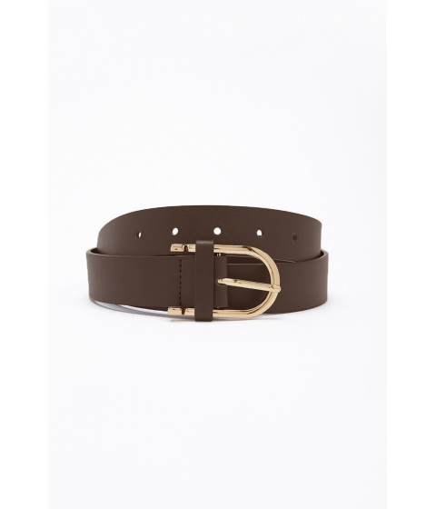 Accesorii Femei Forever21 Faux Leather Hip Belt BROWN