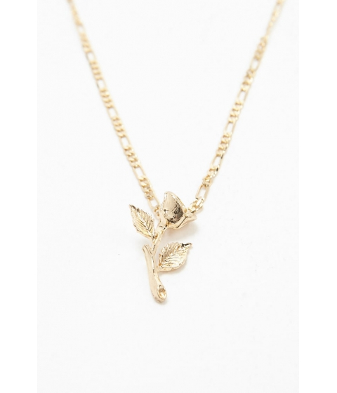 Bijuterii Femei Forever21 Rose Charm Layered Necklace GOLD