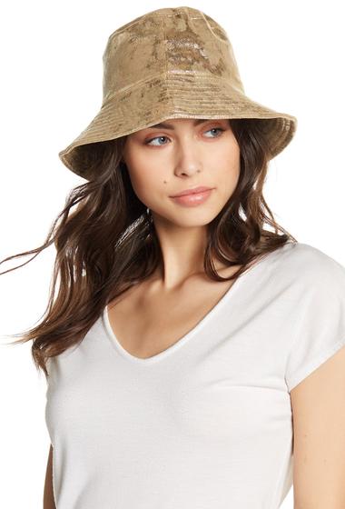 Accesorii Femei Free Press Metallic Bucket Hat GOLD