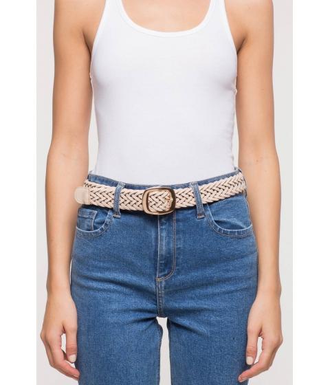 Accesorii Femei CheapChic Simply Squared Braided Jean Belt TaupeKhaki