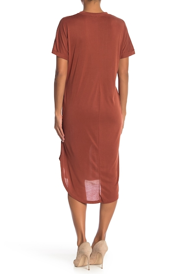 Imbracaminte Femei Lush Solid T-Shirt Dress RUST