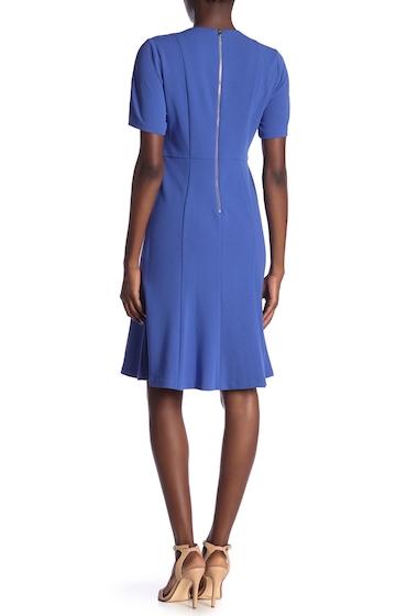 Imbracaminte Femei Donna Morgan Short Sleeve Fit Flare Dress ACRYLIC BL