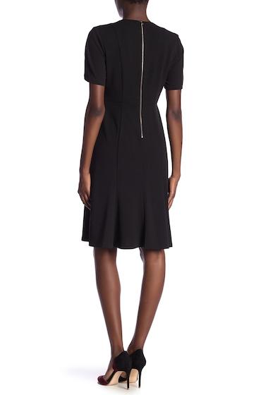 Imbracaminte Femei Donna Morgan Short Sleeve Fit Flare Dress BLACK
