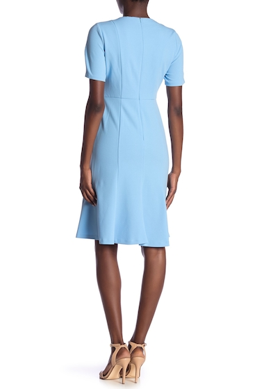 Imbracaminte Femei Donna Morgan Short Sleeve Fit Flare Dress BLUE CADET