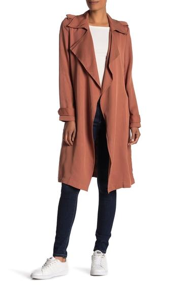 Imbracaminte Femei Bagatelle Leather Notch Lapel Trench Coat CEDAR