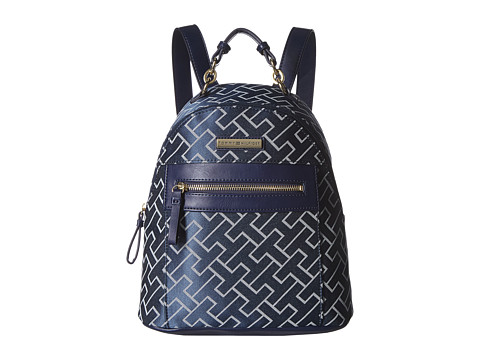 Genti Femei Tommy Hilfiger Claudia Dome Backpack NavyWhite